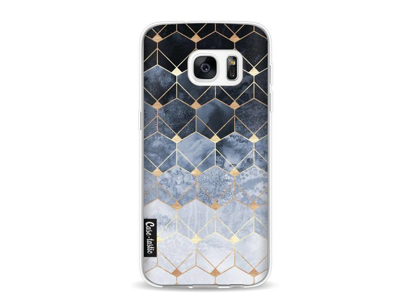 Casetastic Softcover Samsung Galaxy S7 - Blue Hexagon Diamonds