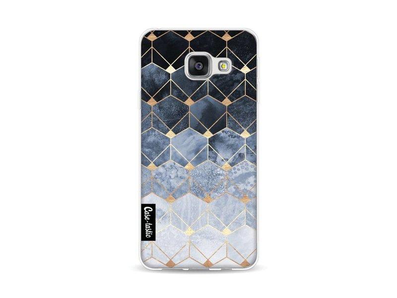 Casetastic Softcover Samsung Galaxy A3 (2016) - Blue Hexagon Diamonds