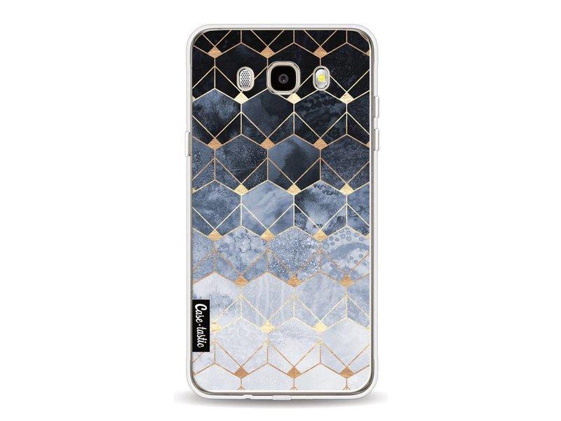 Casetastic Softcover Samsung Galaxy J5 (2016) - Blue Hexagon Diamonds
