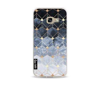 Blue Hexagon Diamonds - Samsung Galaxy A3 (2017)