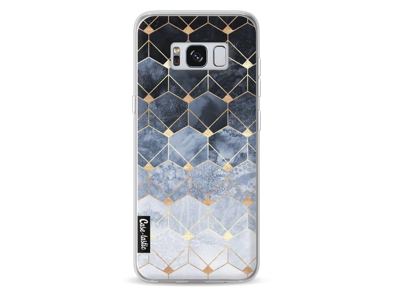 Casetastic Softcover Samsung Galaxy S8 - Blue Hexagon Diamonds