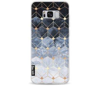 Blue Hexagon Diamonds - Samsung Galaxy S8 Plus