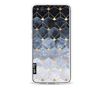 Blue Hexagon Diamonds - Huawei P10 Lite