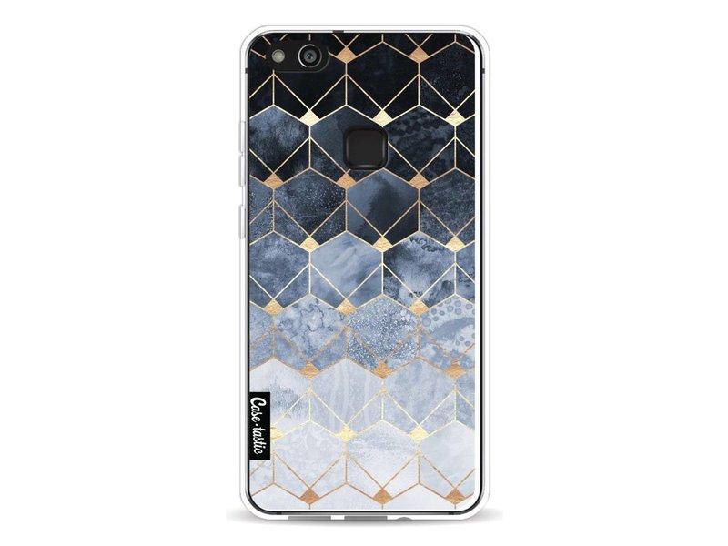 Casetastic Softcover Huawei P10 Lite - Blue Hexagon Diamonds