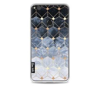 Blue Hexagon Diamonds - Huawei P8 Lite (2017)