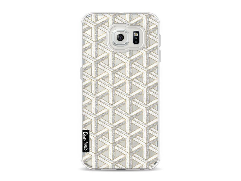 Casetastic Softcover Samsung Galaxy S6 - Abstract Marble Transparent