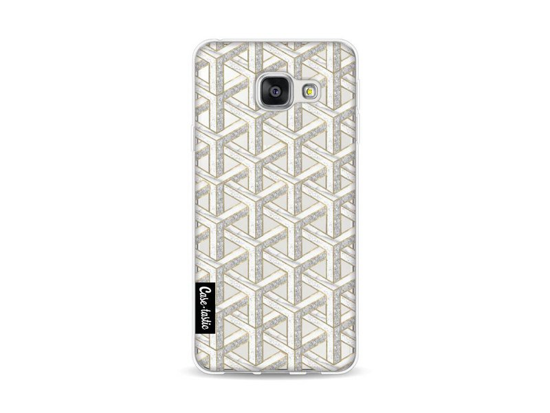 Casetastic Softcover Samsung Galaxy A3 (2016) - Abstract Marble Transparent