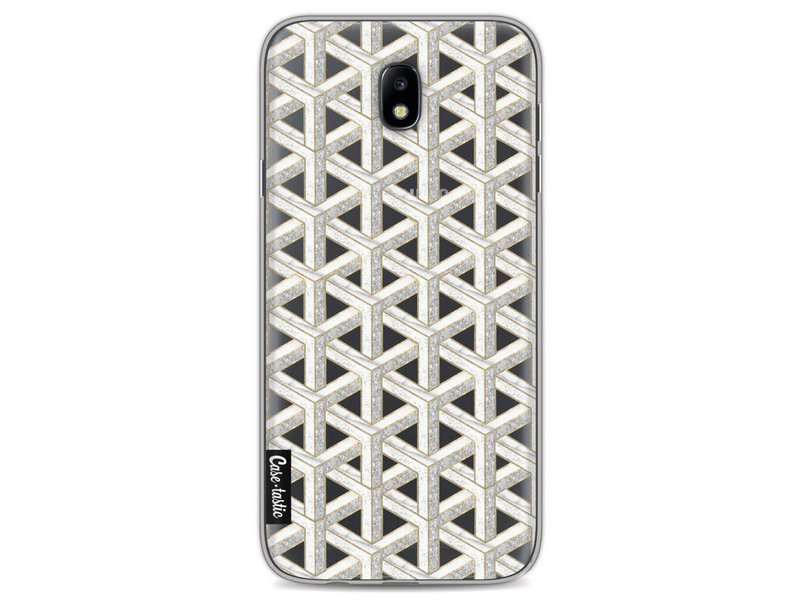 Casetastic Softcover Samsung Galaxy J7 (2017) - Abstract Marble Transparent