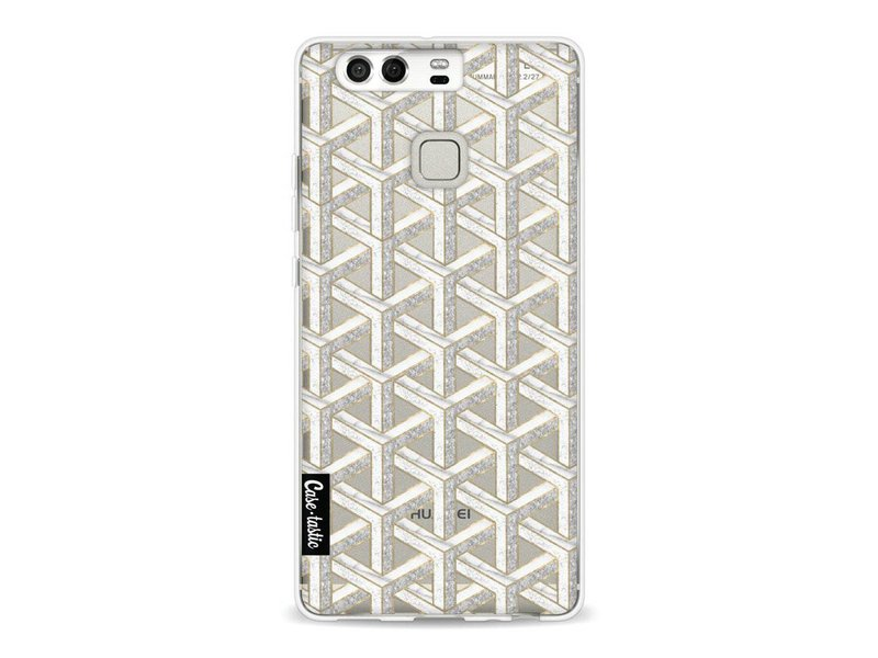 Casetastic Softcover Huawei P9 - Abstract Marble Transparent