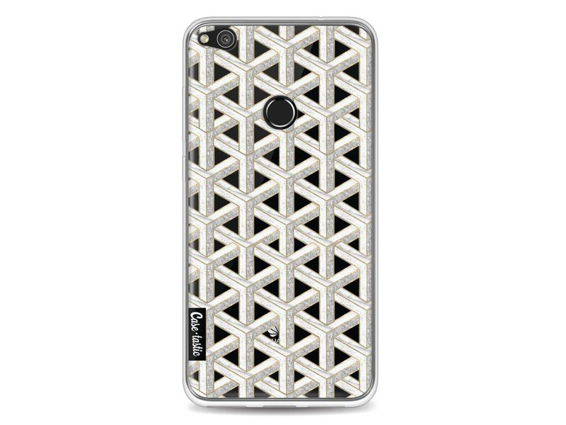 Casetastic Softcover Huawei P8 Lite (2017) - Abstract Marble Transparent