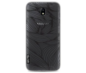 Wavy Outlines Black - Samsung Galaxy J7 (2017)