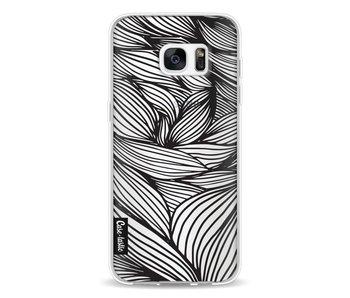 Wavy Outlines Black - Samsung Galaxy S7 Edge