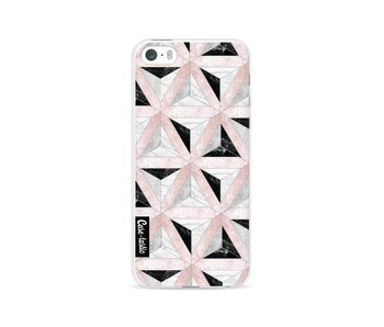 Marble Triangle Blocks Pink - Apple iPhone 5 / 5s / SE