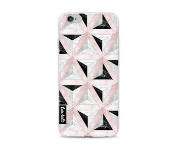 Marble Triangle Blocks Pink - Apple iPhone 6 / 6s