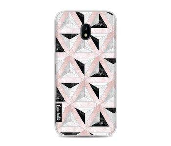 Marble Triangle Blocks Pink - Samsung Galaxy J3 (2017)