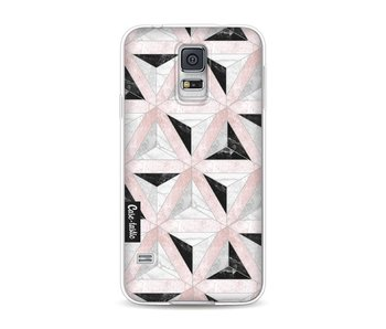 Marble Triangle Blocks Pink - Samsung Galaxy S5