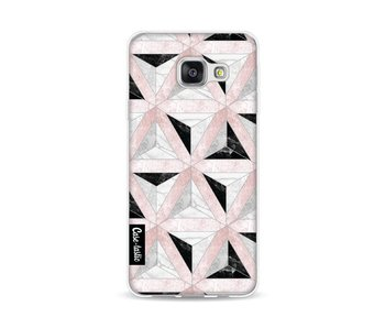 Marble Triangle Blocks Pink - Samsung Galaxy A3 (2016)