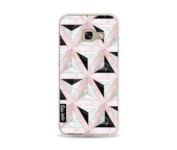 Marble Triangle Blocks Pink - Samsung Galaxy A3 (2017)