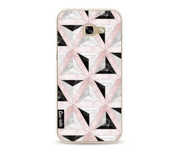 Marble Triangle Blocks Pink - Samsung Galaxy A5 (2017)