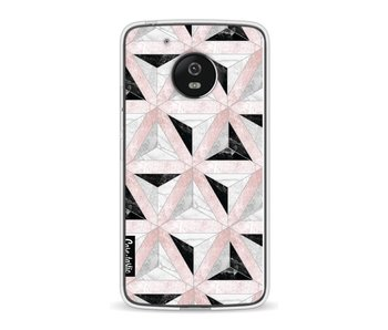 Marble Triangle Blocks Pink - Motorola Moto G5