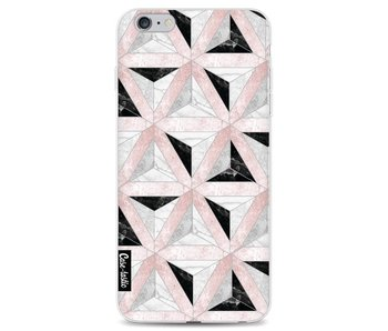 Marble Triangle Blocks Pink - Apple iPhone 6 Plus / 6s Plus