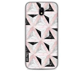 Marble Triangle Blocks Pink - Samsung Galaxy J7 (2017)