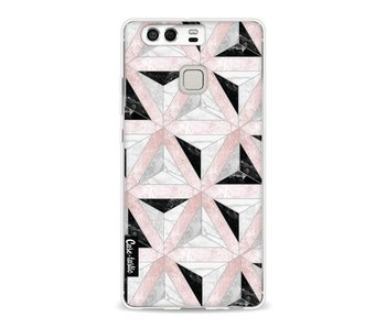 Marble Triangle Blocks Pink - Huawei P9