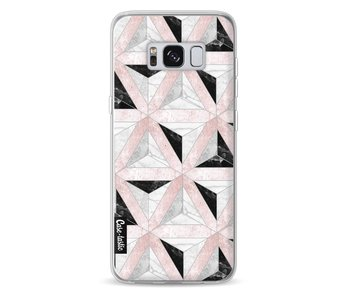 Marble Triangle Blocks Pink - Samsung Galaxy S8