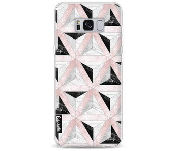 Marble Triangle Blocks Pink - Samsung Galaxy S8 Plus