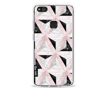 Marble Triangle Blocks Pink - Huawei P10 Lite