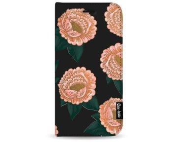 Winterly Flowers - Wallet Case Black Samsung Galaxy S8 Plus
