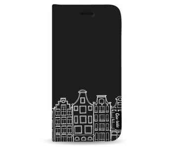 Amsterdam Canal Houses White - Wallet Case Black Samsung Galaxy Note 8