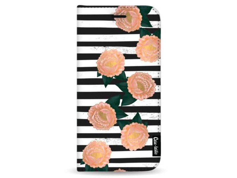 Casetastic Wallet Case Black Samsung Galaxy Note 8 - Striped Winter Flowers