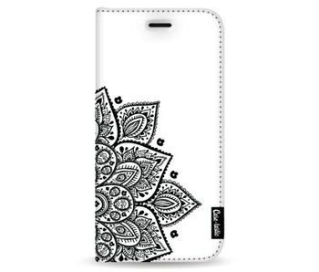 Floral Mandala - Wallet Case White Samsung Galaxy Note 8