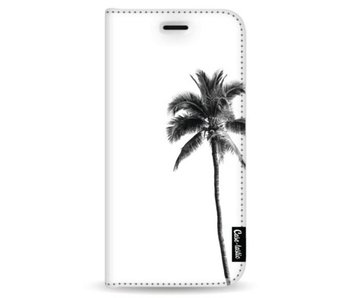 Palm Tree Transparent - Wallet Case White Samsung Galaxy Note 8