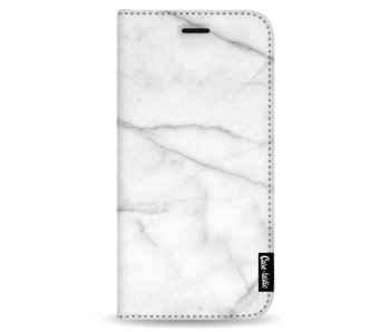 White Marble - Wallet Case White Samsung Galaxy Note 8