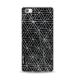 Casetastic Softcover Huawei P8 Lite - Abstract Marble Triangles