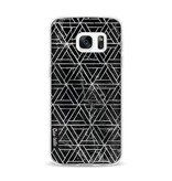 Casetastic Softcover Samsung Galaxy S7 - Abstract Marble Triangles
