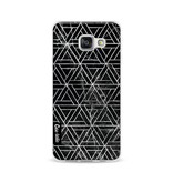 Casetastic Softcover Samsung Galaxy A3 (2016) - Abstract Marble Triangles