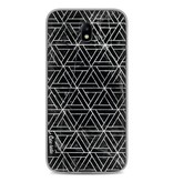 Casetastic Softcover Samsung Galaxy J7 (2017) - Abstract Marble Triangles