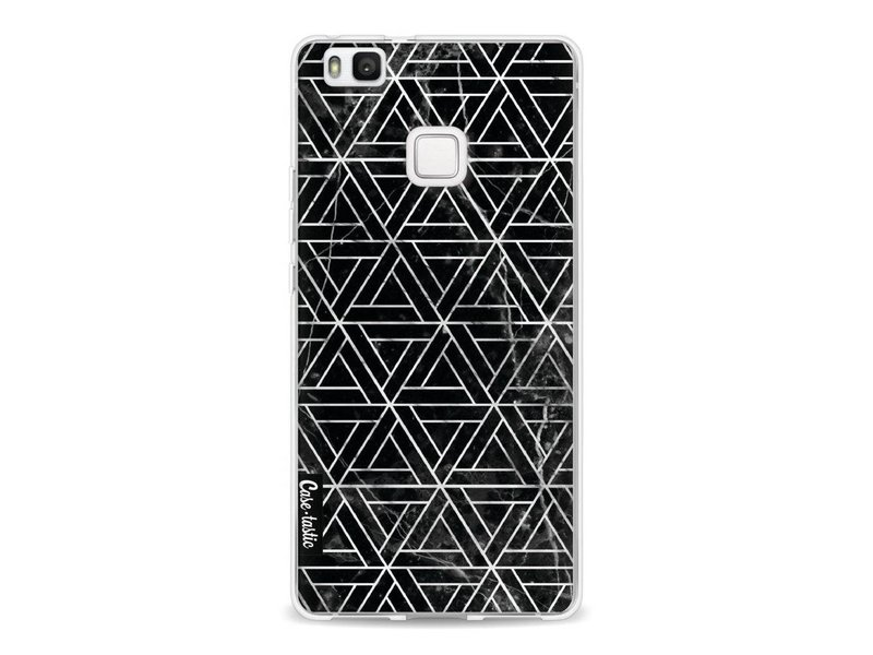 Casetastic Softcover Huawei P9 Lite - Abstract Marble Triangles
