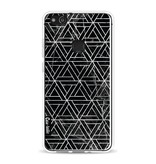 Casetastic Softcover Huawei P10 Lite - Abstract Marble Triangles