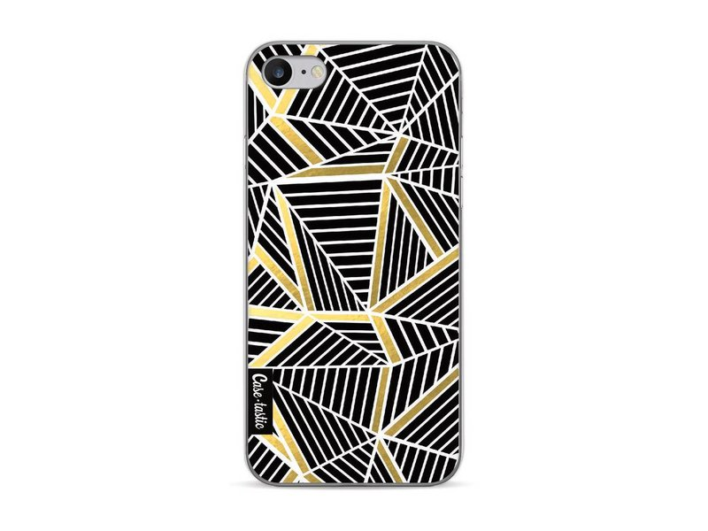Casetastic Softcover Apple iPhone 7 / 8 - Abstraction Lines Black Gold