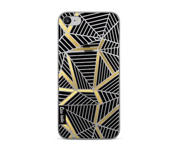 Abstraction Lines Black Gold Transparent - Apple iPhone 7 / 8