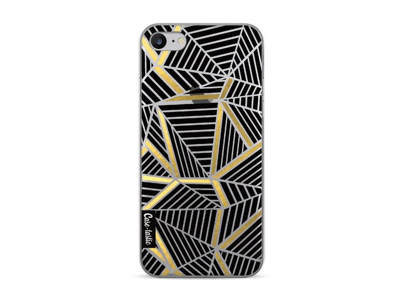 Casetastic Softcover Apple iPhone 7 / 8 - Abstraction Lines Black Gold Transparent