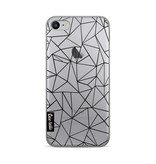 Casetastic Softcover Apple iPhone 7 / 8 - Abstraction Outline Black Transparent