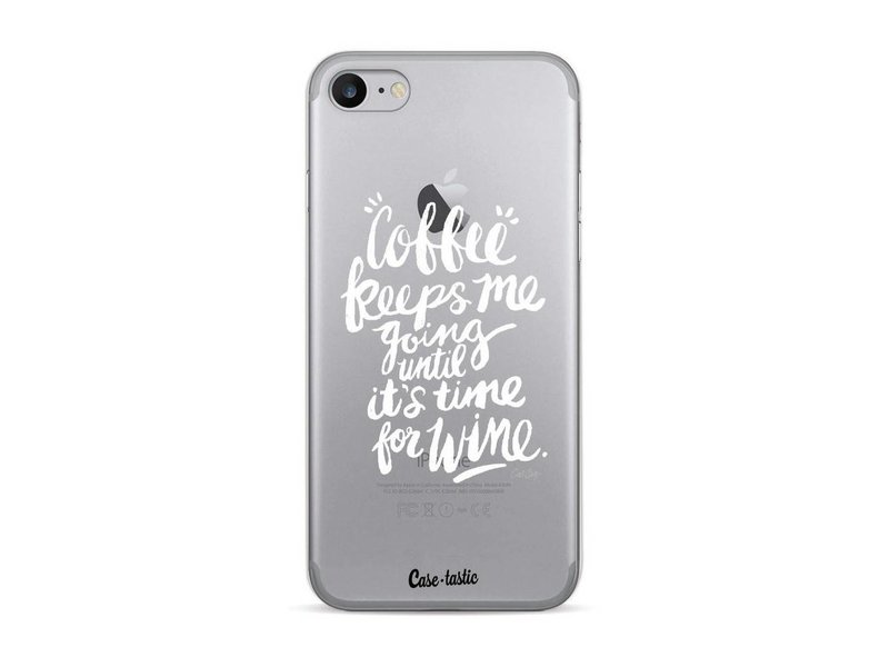 Casetastic Softcover Apple iPhone 7 / 8 - Coffee Wine White Transparent