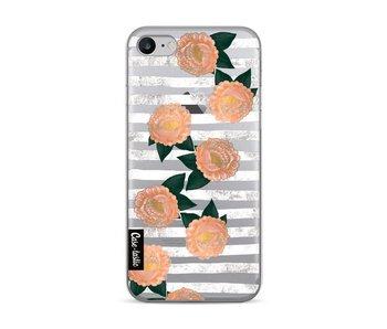 Striped Winter Flowers - Apple iPhone 7 / 8