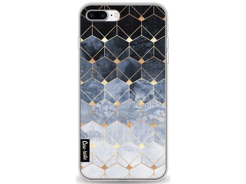 Casetastic Softcover Apple iPhone 7 Plus / 8 Plus - Blue Hexagon Diamonds