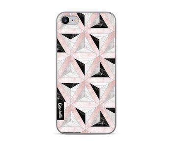 Marble Triangle Blocks Pink - Apple iPhone 7 / 8